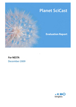 SciCast evaluation report 2009-10